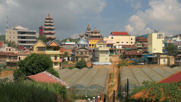 Vietnamese Village with Pagoda, Linh Phuoc Footage