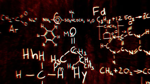 Chemistry v1 02 Stereoscopic 3D Anaglyph red blue Stock Video Footage