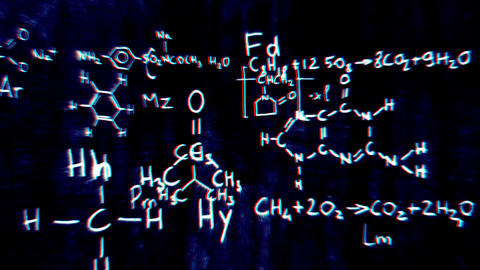 Chemistry v1 04 Stereoscopic 3D Anaglyph red blue Stock Video Footage