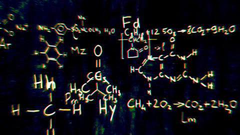 Chemistry v1 05 Stereoscopic 3D Anaglyph red blue Stock Video Footage