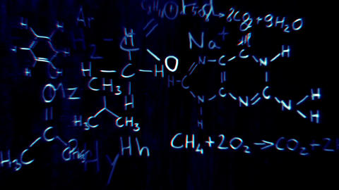Chemistry v2 03 Stereoscopic 3D Anaglyph red blue Stock Video Footage