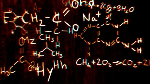 Chemistry v2 04 Stereoscopic 3D Anaglyph red blue Animation
