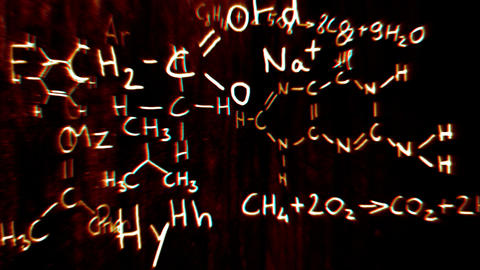 Chemistry v2 04 Stereoscopic 3D Anaglyph red blue Stock Video Footage