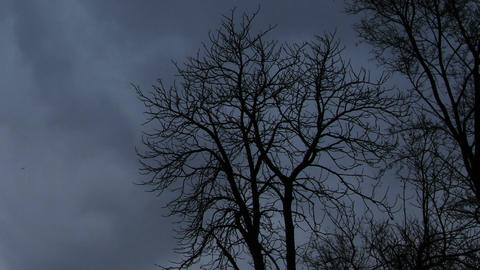Horror Scene Clouds Timelapse 02 Stock Video Footage