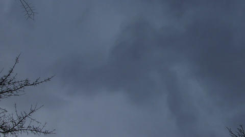 Horror Scene Clouds Timelapse 04 pan Stock Video Footage