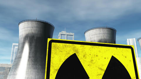Nuclear Factory and Towers 04 Animation