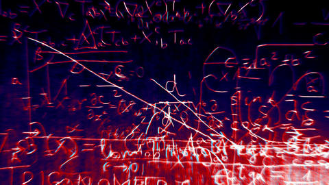 Science v2 06 Stereoscopic 3D Anaglyph red blue Stock Video Footage