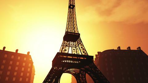 Sunset in Paris 03 Stock Video Footage