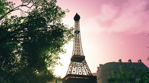 Sunset in Paris 05 Stock Video Footage