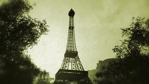 Sunset in Paris 07 vintage Animation