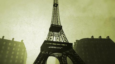 Sunset in Paris 09 vintage Stock Video Footage