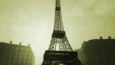 Sunset in Paris 09 vintage Stock Video Footage