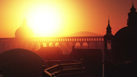 Sunset in Rome 04 Stock Video Footage