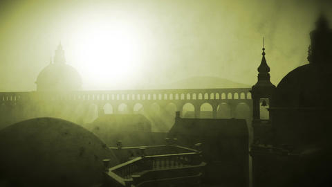 Sunset in Rome 06 vintage Stock Video Footage