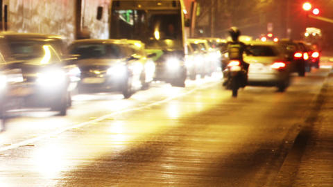 Tunnel Traffic Timelapse 02 Stock Video Footage