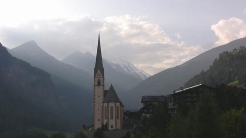 Church in the Austrian Alps Footage
