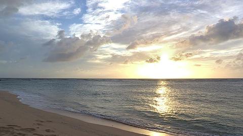 Sea and sunset in Iriomote island,Okinawa,Japan Stock Video Footage