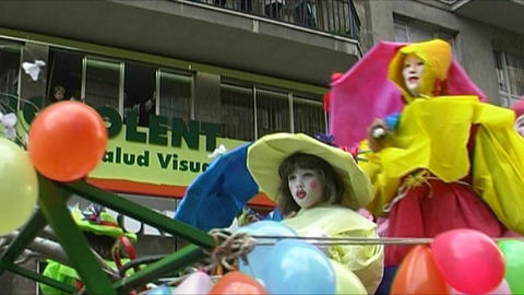 Carnival in Spain Stock Video Footage