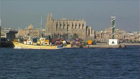 Harbor Palma de Mallorca Stock Video Footage