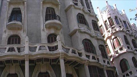 Palma de Masllorca - Gaudi architecture Stock Video Footage