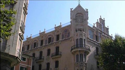 Palma de Majorca Architecture Stock Video Footage