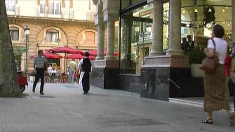 Palma de Mallorca - City life Stock Video Footage