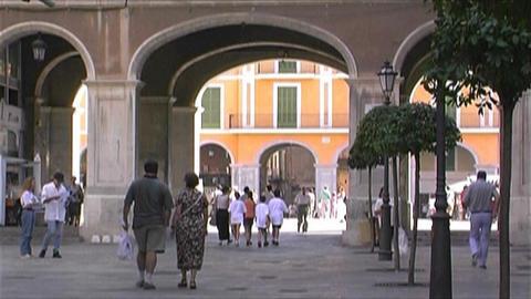Palma de Mallorca - Placa Major Stock Video Footage