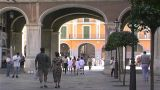 Palma De Mallorca - Placa Major stock footage