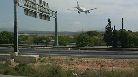 Plane landing Stock Video Footage