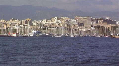 Skyline Palma de Mallorca Stock Video Footage