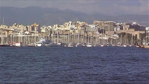 Skyline Palma de Mallorca Stock Video Footage