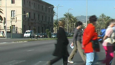 Palma de Mallorca - Pedestrians Stock Video Footage