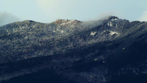 Mountain peak in a clouds Stock Video Footage