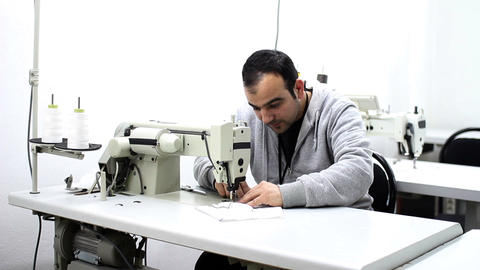 textile factory Stock Video Footage