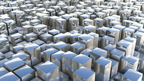 cube track reflection Stock Video Footage