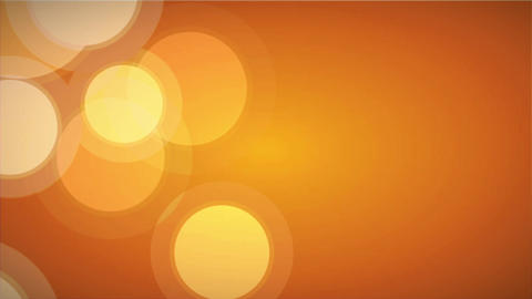 Bokeh in Orange Animation