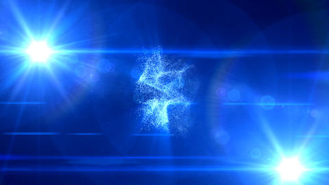 321 blue flare background Stock Video Footage