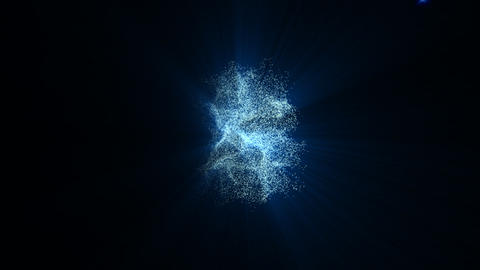 321 blue flare background Animation