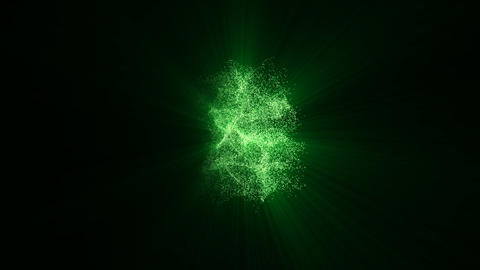 321 green flare Animation