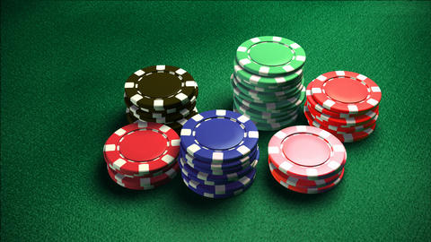 Casino 6 of chips color 2 Animation