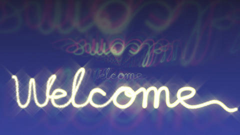 welcome sign flashing Stock Video Footage