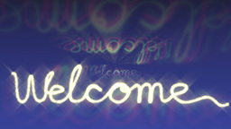 welcome sign flashing Animation