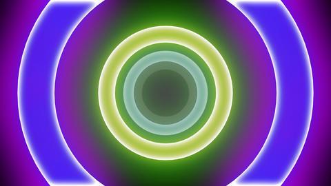 Neon Light Donut B HD Animation
