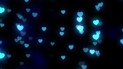 Neon Light Wave Heart A HD Stock Video Footage