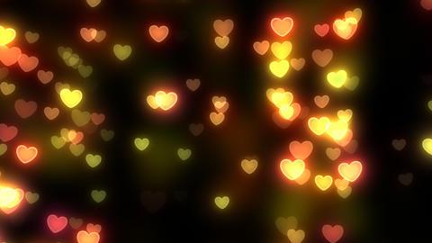 Neon Light Wave Heart A3 HD Stock Video Footage
