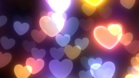 Neon Light Wave Heart B2 HD Stock Video Footage