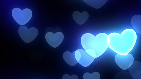 Neon Light Wave Heart C2 HD Stock Video Footage