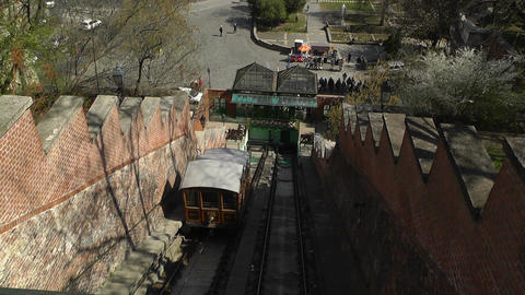 Cable Car Budapest Hungary 01 Stock Video Footage