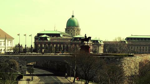 Castle Of Buda 03 stylized Stock Video Footage