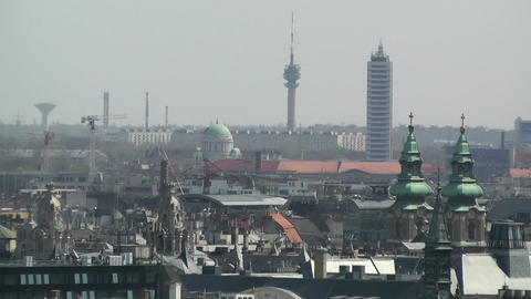 European City Rooftops View 02 Footage
